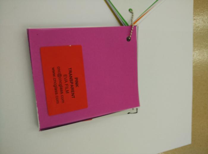 Pink EVAVISION transparent EVA interlayer film for laminated safety glass (54)