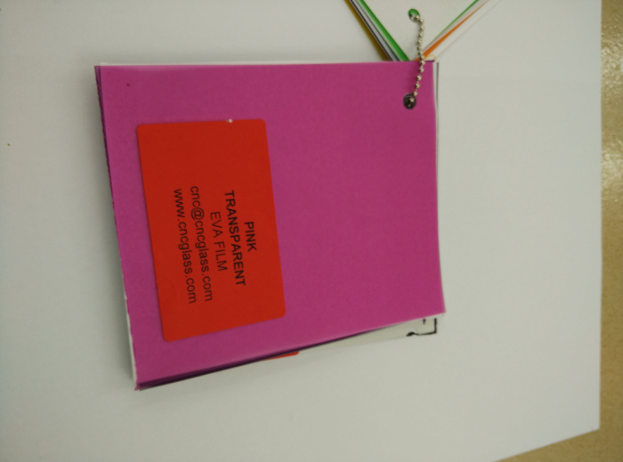 Pink EVAVISION transparent EVA interlayer film for laminated safety glass (55)