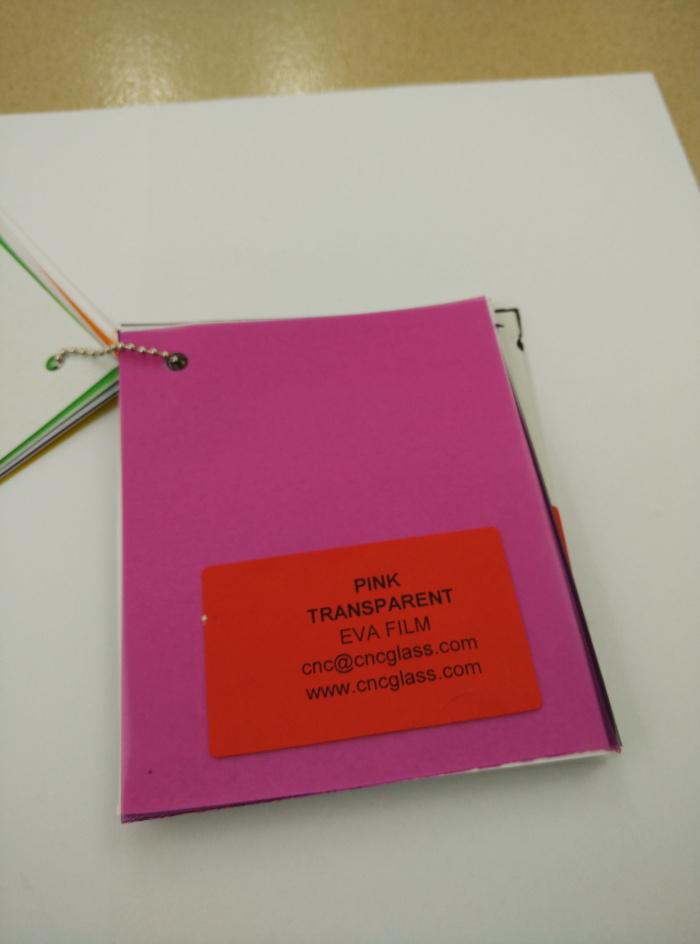 Pink EVAVISION transparent EVA interlayer film for laminated safety glass (58)