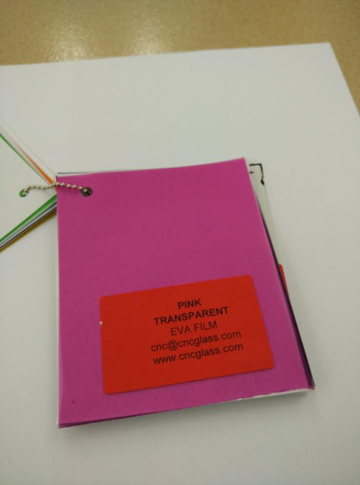 Pink EVAVISION transparent EVA interlayer film for laminated safety glass (59)
