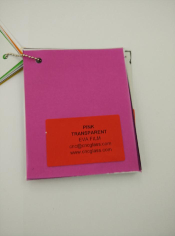 Pink EVAVISION transparent EVA interlayer film for laminated safety glass (63)