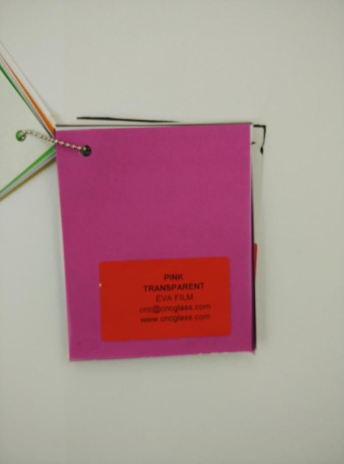 Pink EVAVISION transparent EVA interlayer film for laminated safety glass (67)