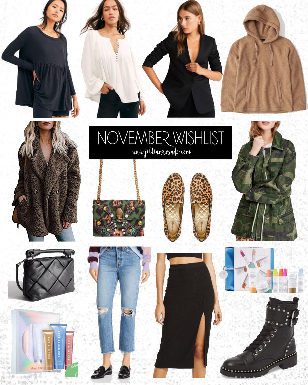 November Fashion Skincare WIshlist