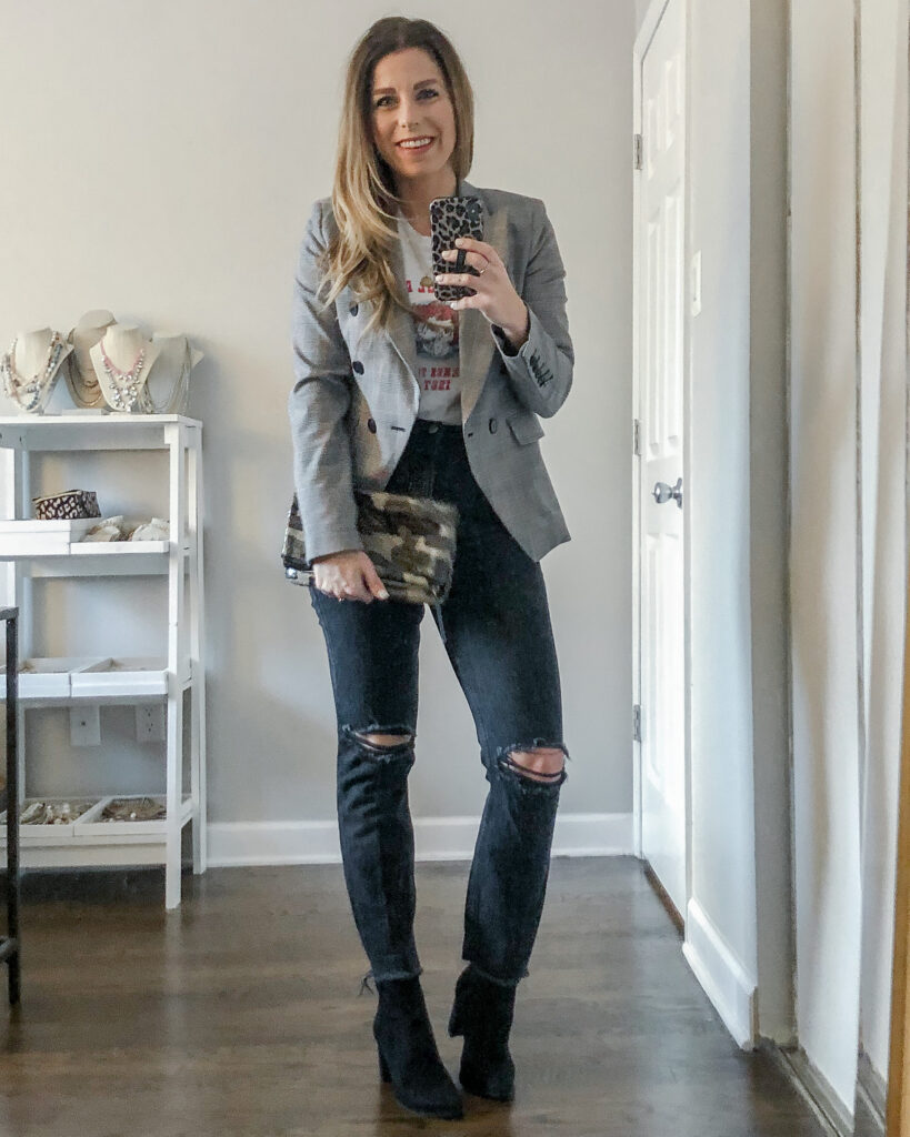 Dressed Up for a Night Out Graphic Tee Outfit