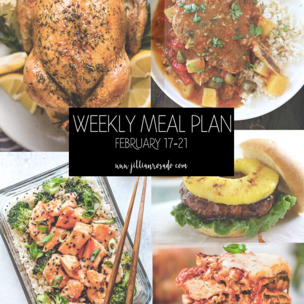 My Weekly Meal Plan Jillian Rosado