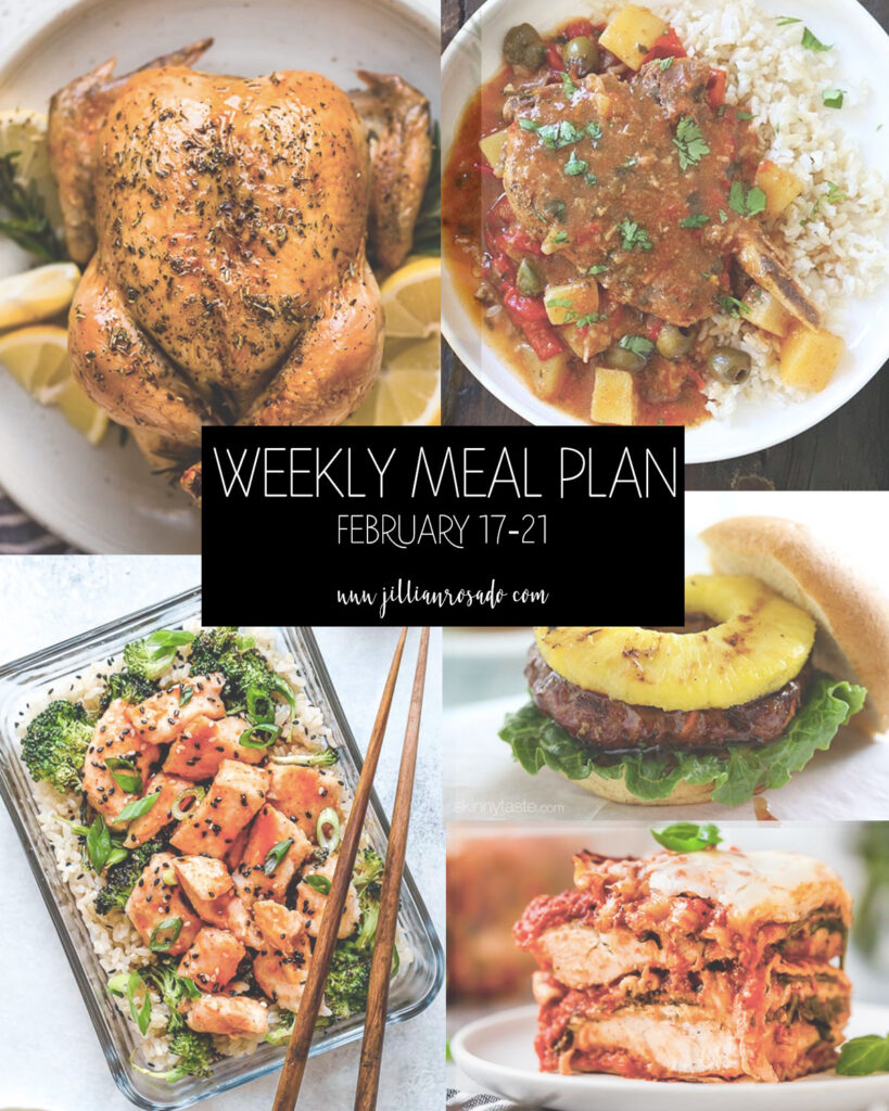 My Weekly Meal Plan | February 17-21