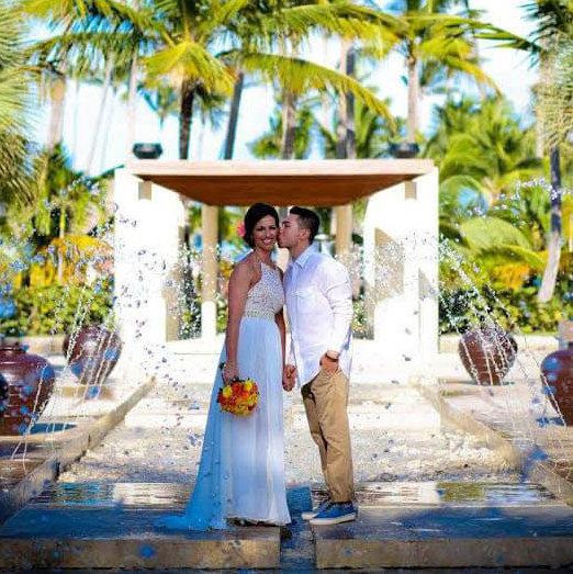 custom halter wedding dress | JenMar Creations