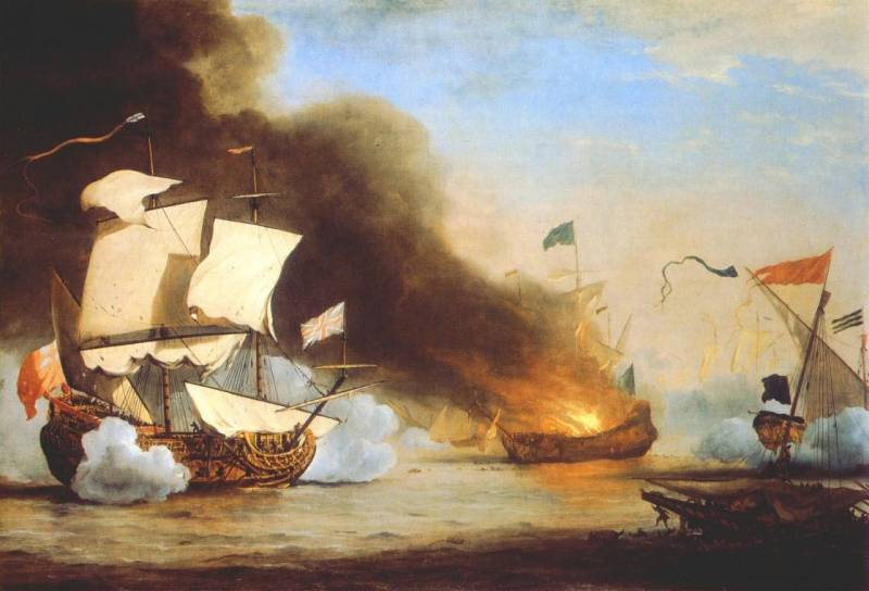 velde-the-younger-an-english-ship-in-action-with-barbary-corsairs-artfond