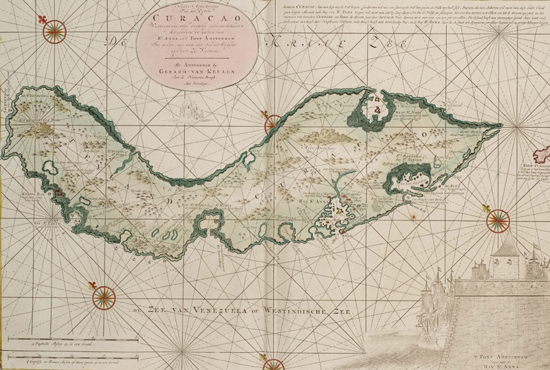 1790-Zeekaart-van-het-eiland-Curacao
