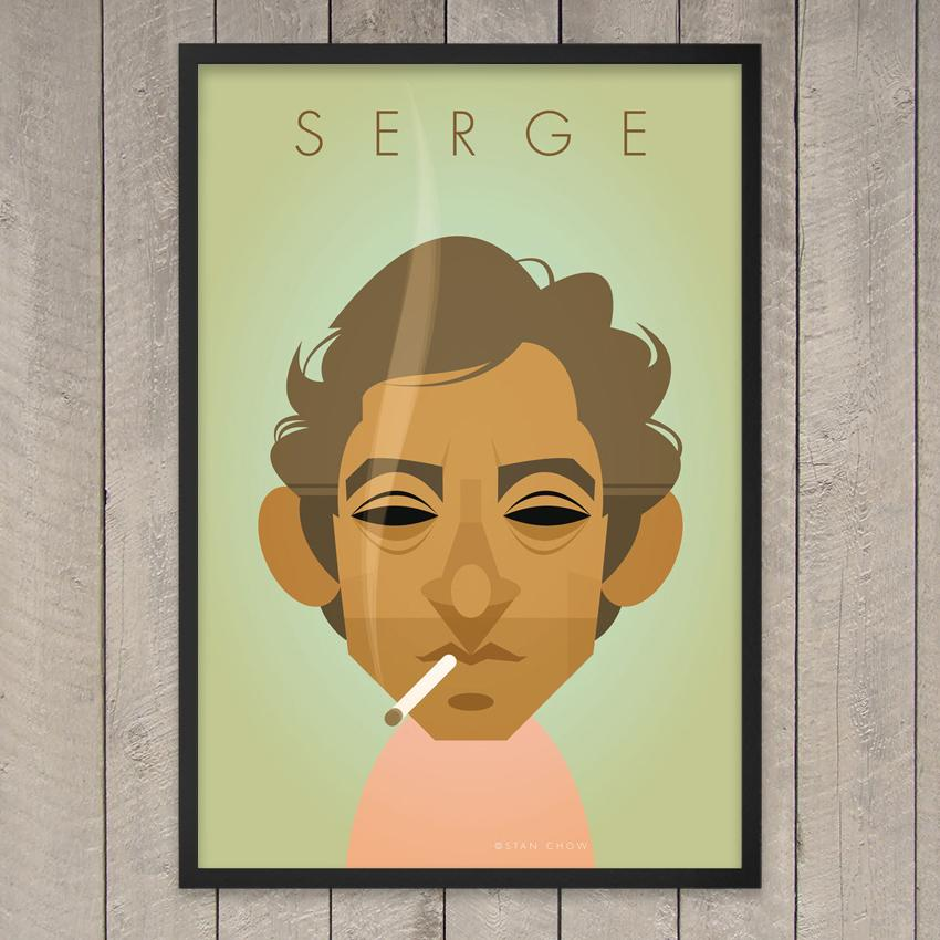 Serge Gainsbourg par Stanley Chow
