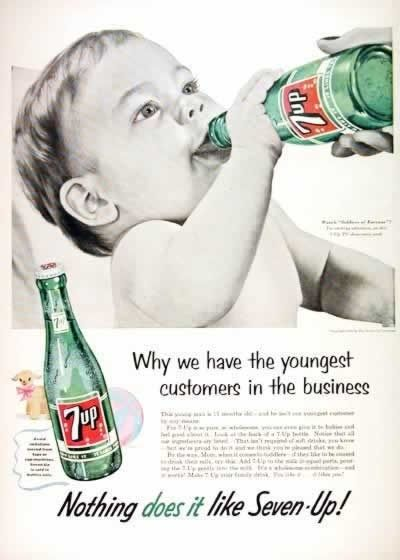 Road NOT : ADS WE WON'T SEE AGAIN – 7 up Has Youngest Customers In the Business