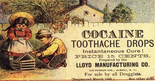 cocaine tooth ache drops
