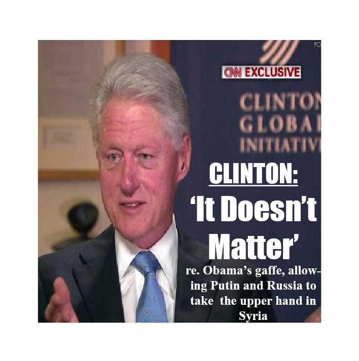 CLINTON ' IT DOSN'T MATTER'