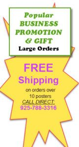 FREE SHIPPING on oveor 10 posters