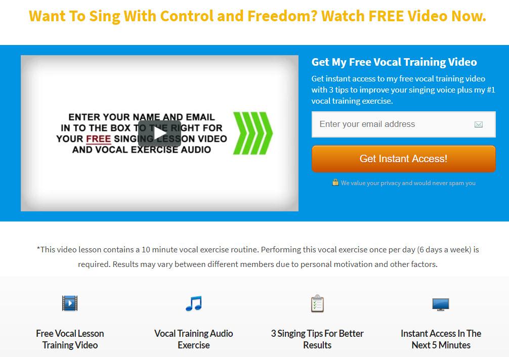 Free Singing Lesson