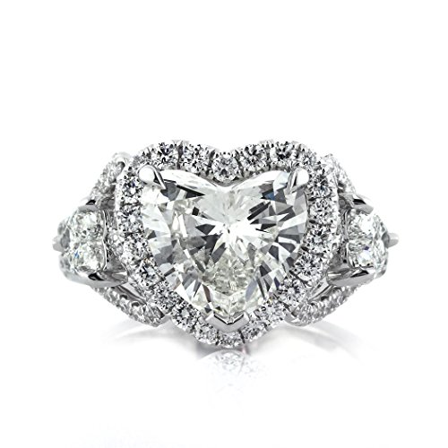 4.25ct Heart Shaped Diamond Engagement Ring