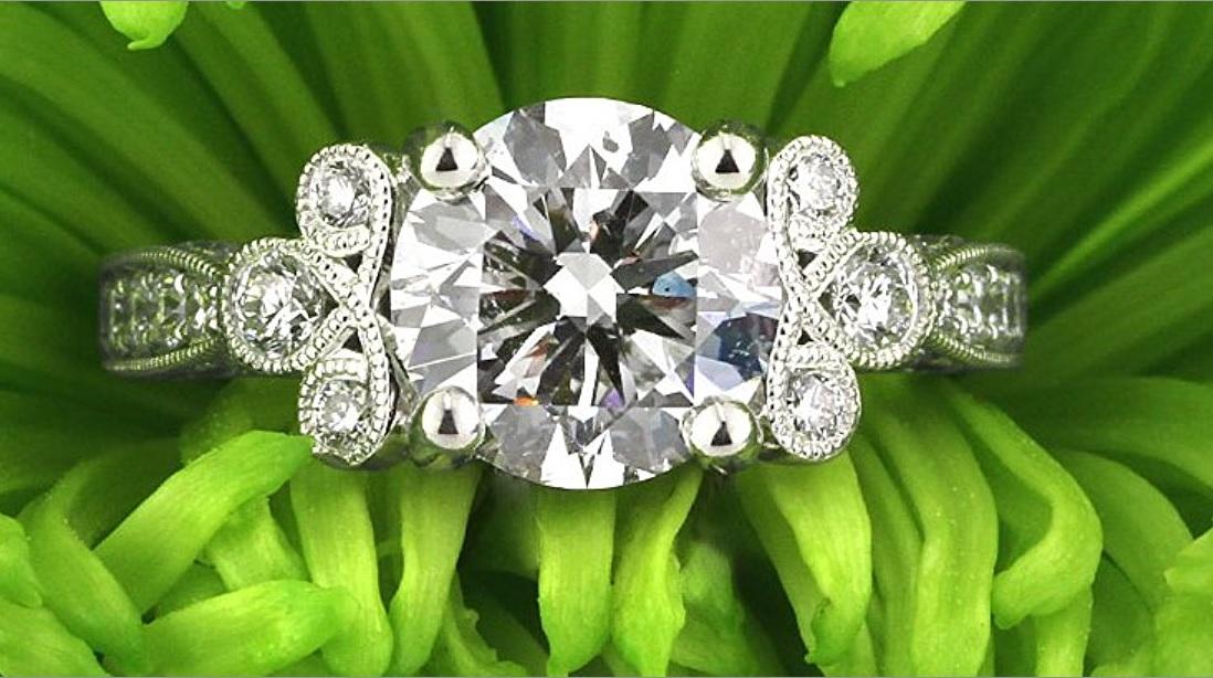 Mark Broumand 3.54ct Round Brilliant Cut Diamond Engagement Ring