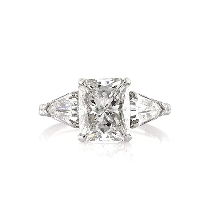 Mark Broumand 4.63ct Radiant Cut Diamond Engagement Ring
