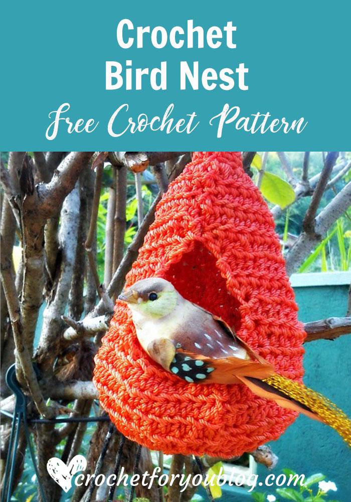 Crochet Bird Nest - free crochet pattern