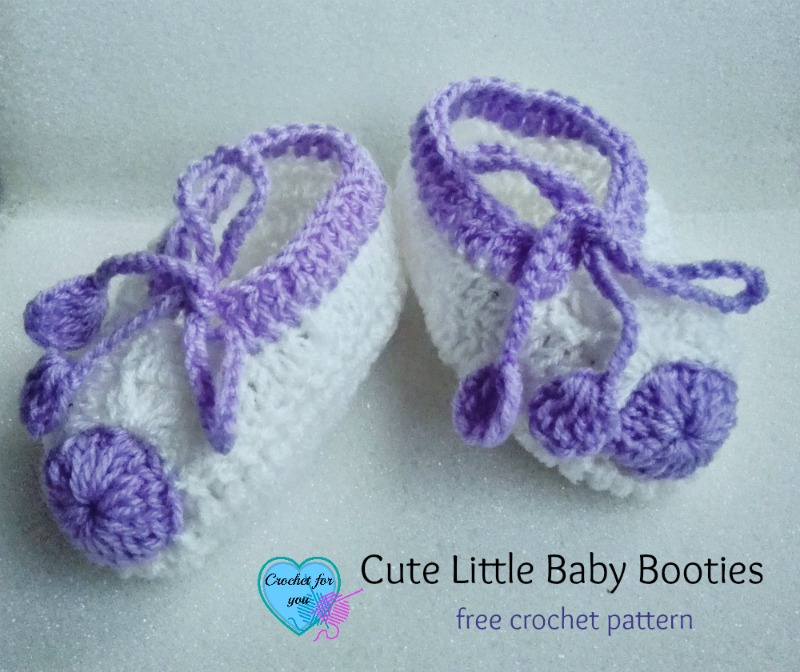 Cute Little Baby Booties - free crochet pattern