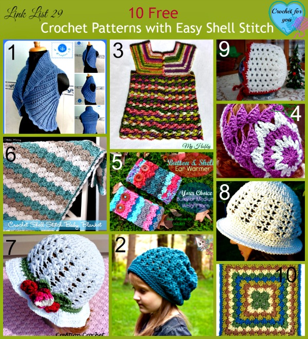 Link List 29 10 Free Crochet Patterns with Easy Shell Stitch