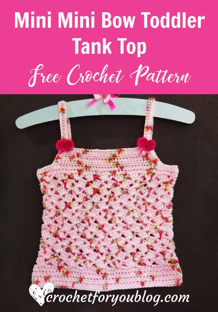Mini Mini Bow Toddler Tank Top - free crochet pattern
