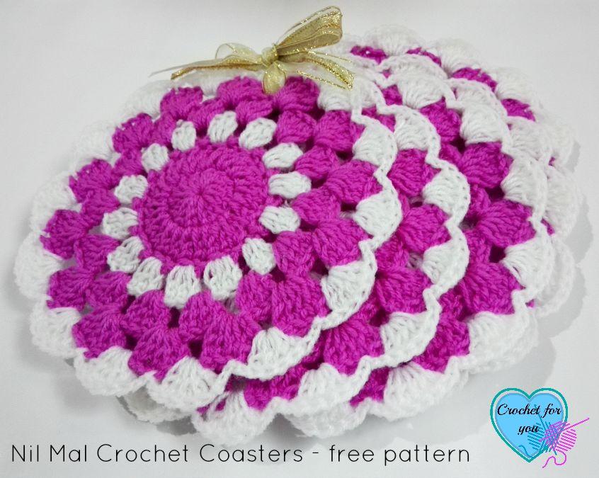 Nil Mal Crochet Coasters - free pattern