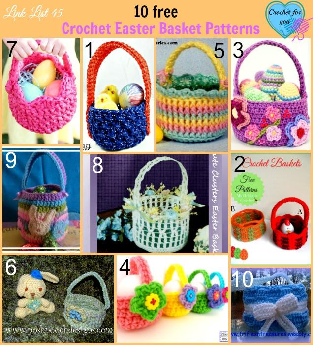 10 Free Crochet Easter Basket Patterns