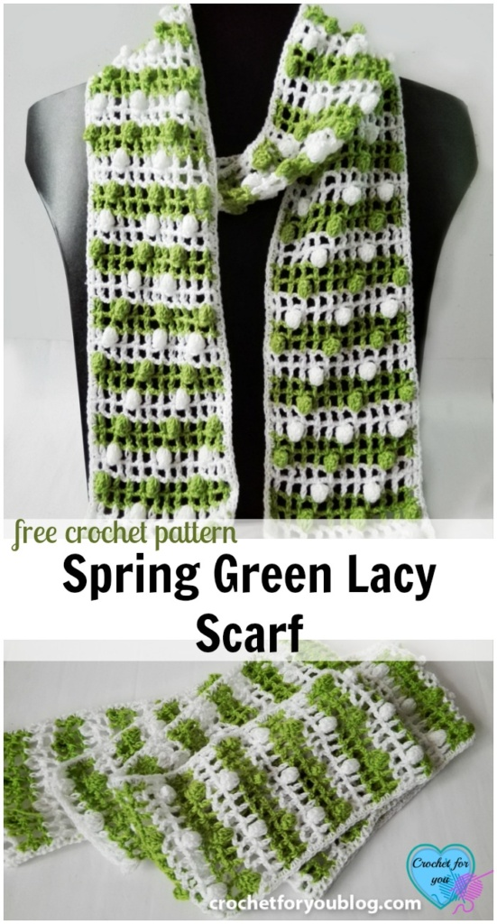Spring Green Lacy Scarf- free pattern