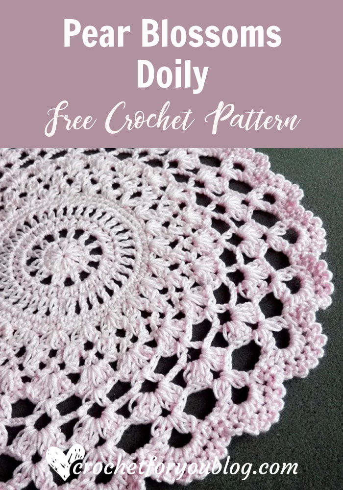Pear Blossoms Doily - free crochet pattern