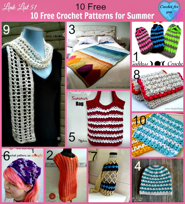 10 Free Crochet Patterns for Summer