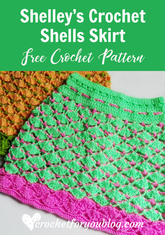 Shelley's Crochet Shells Skirt - free crochet pattern