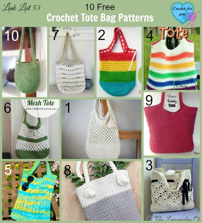 10 Free Crochet Tote Bag Patterns