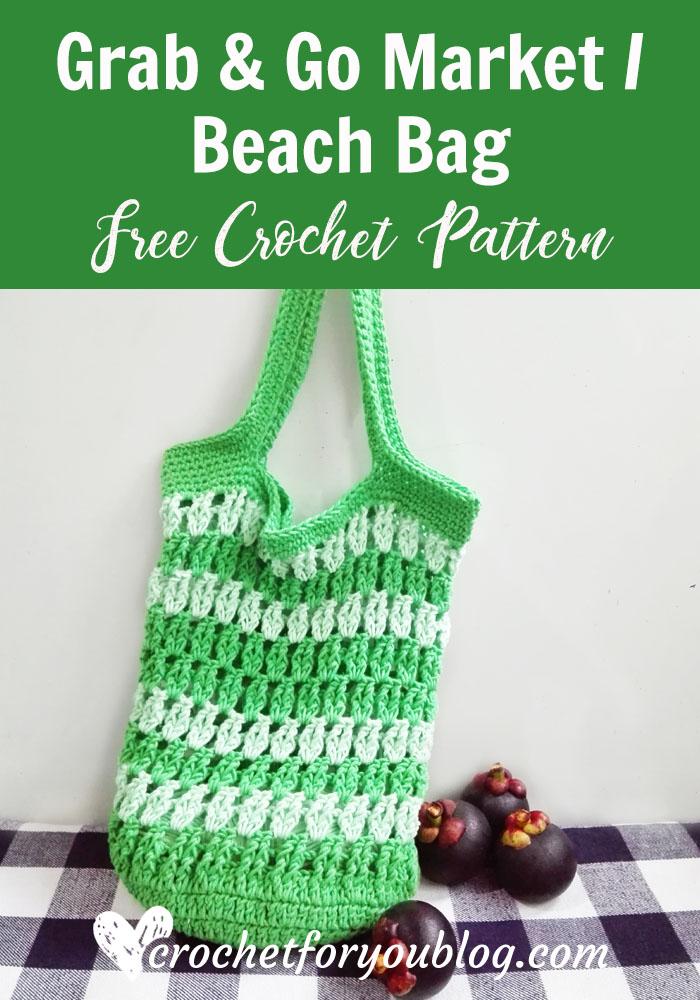 Grab & Go Market or Beach Bag - free crochet pattern