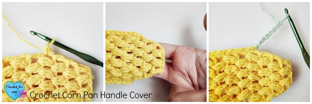 Crochet Corn Pan Handle Cover