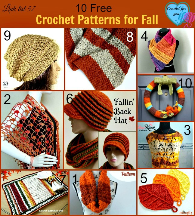 10 Free Crochet Patterns for the Fall Season