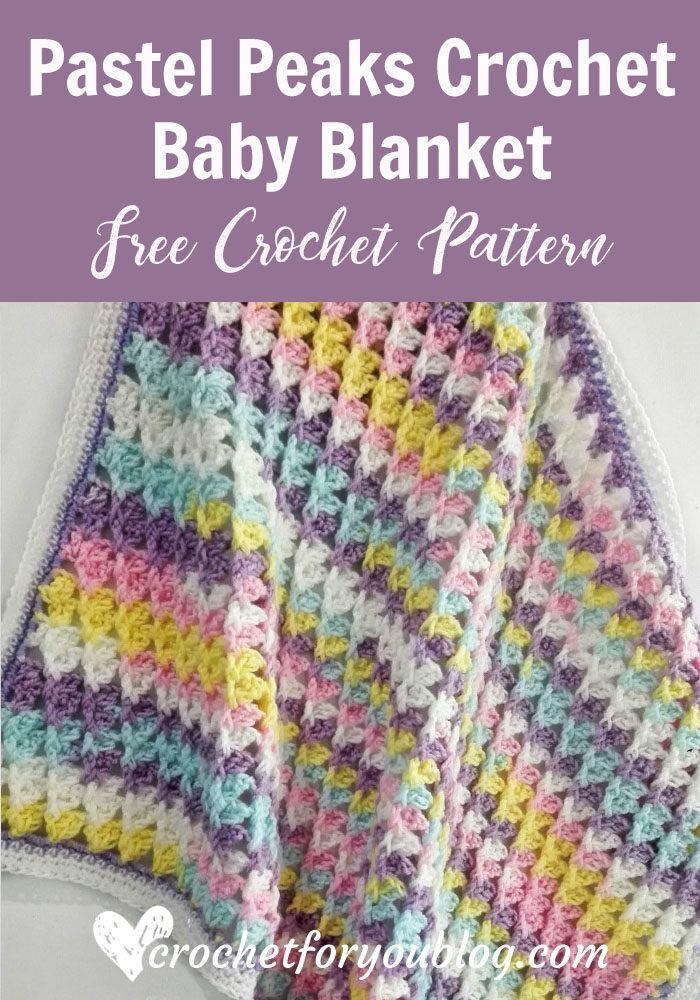 Pastel Peaks Crochet Baby Blanket - free crochet pattern