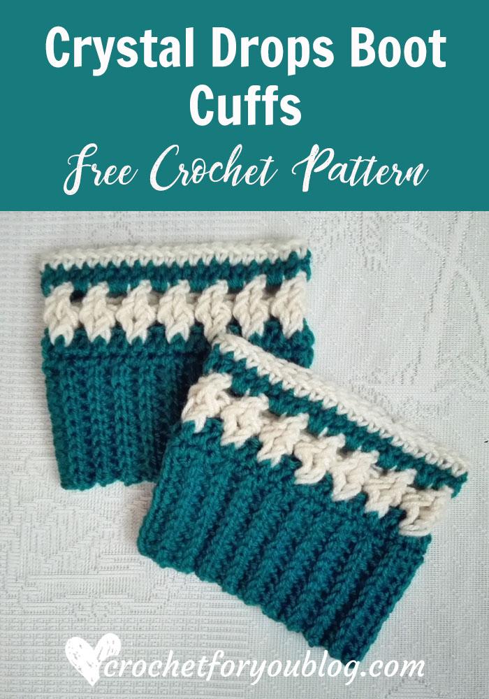 Crystal Drops Boot Cuffs - free crochet pattern