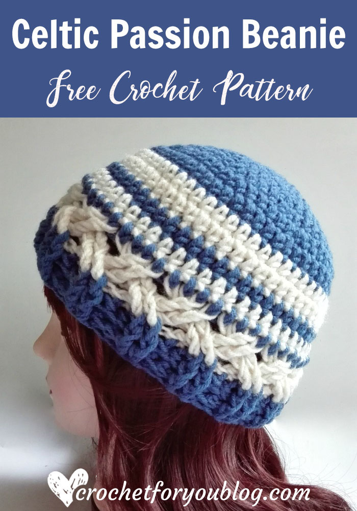 Celtic Passion Beanie - free crochet pattern