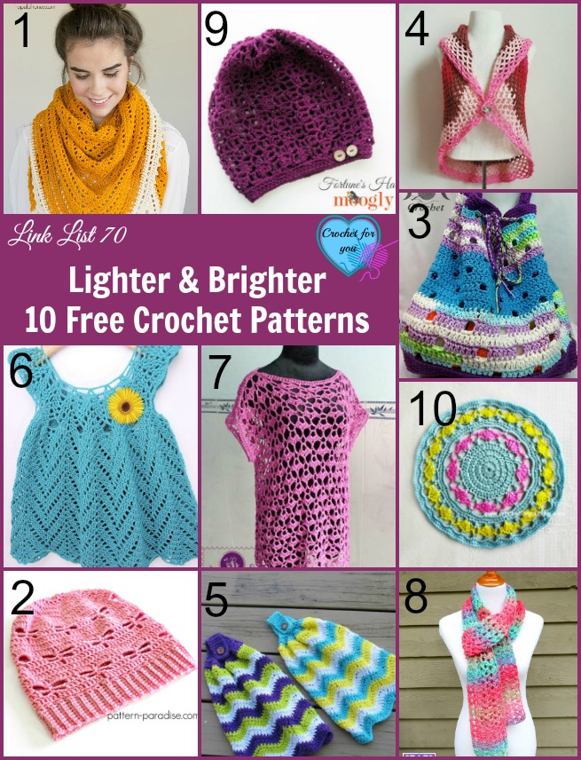 Lighter and Brighter 10 Free Crochet Patterns