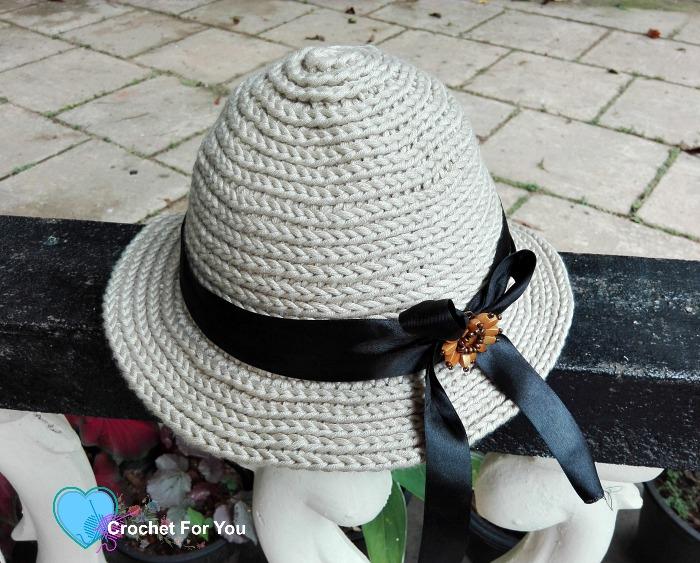 Crochet Straw Sun Hat - free pattern