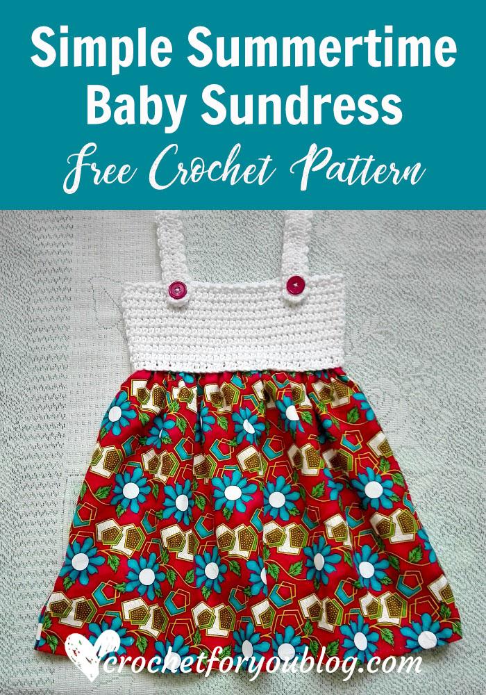 Simple Summertime Baby Sundress - free crochet pattern
