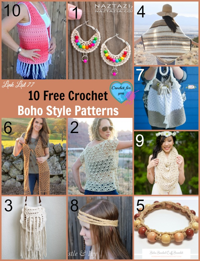 10 Free Crochet Boho Style Patterns