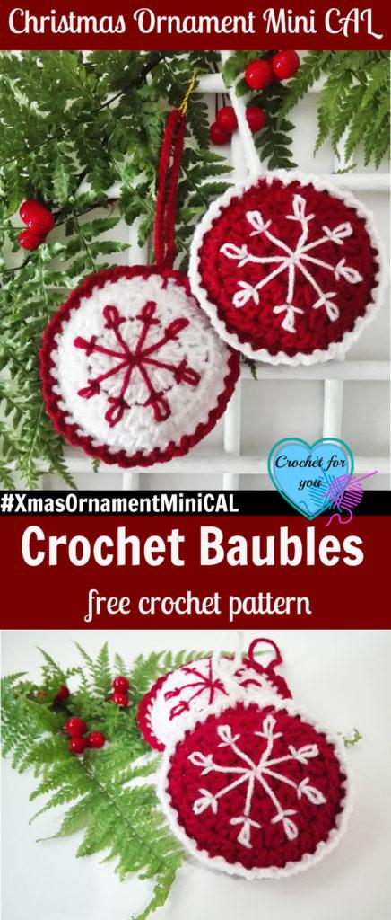 Christmas Ornament Mini CAL - Crochet Baubles