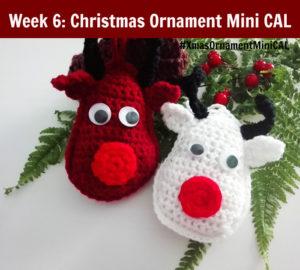 Christmas Ornament Mini CAL - Crochet Rudolf Reindeer