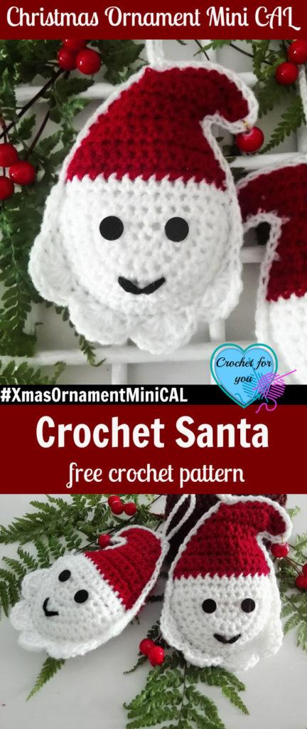 Christmas Ornament Mini CAL - Crochet Santa