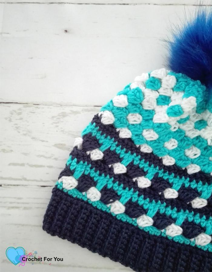 Ocean Shades Pompom Hat