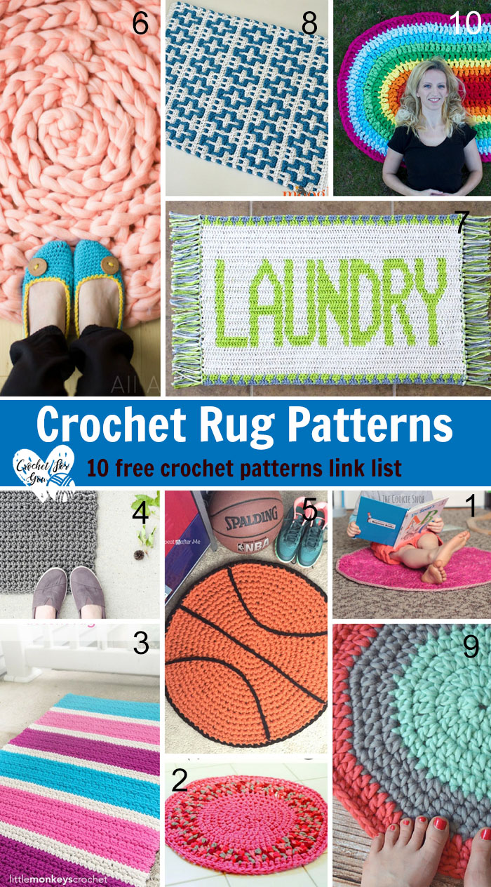 Crochet Rug Patterns -10 free crochet patterns link list
