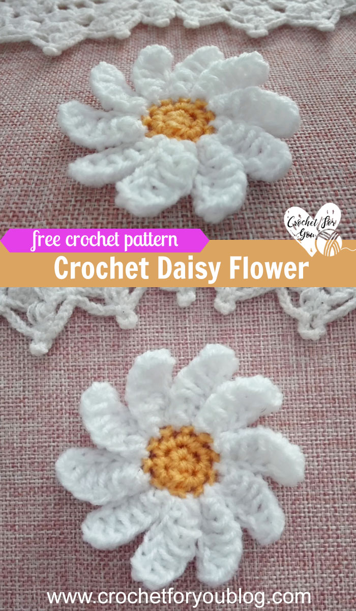 Crochet Daisy Flower Free Pattern