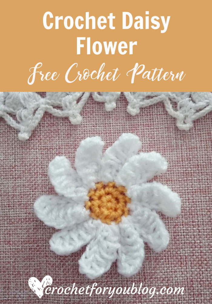 Crochet Daisy Flower Free Pattern